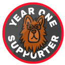 Year One Supporter Badge!